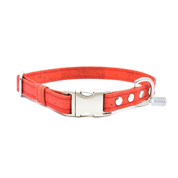 Red Cork Dog Collar - Hoadin