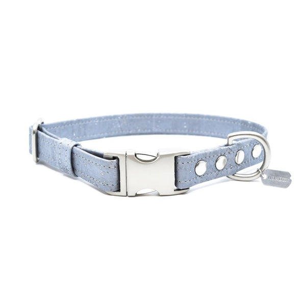 Silver Cork Dog Collar - Hoadin