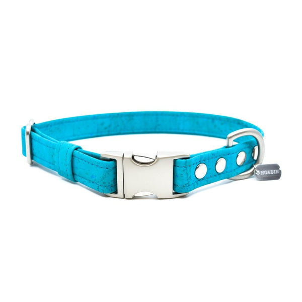 Teal Cork Dog Collar - Hoadin