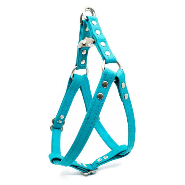 Teal Cork Dog Harness - Hoadin