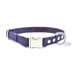 Violet Cork Dog Collar - Hoadin