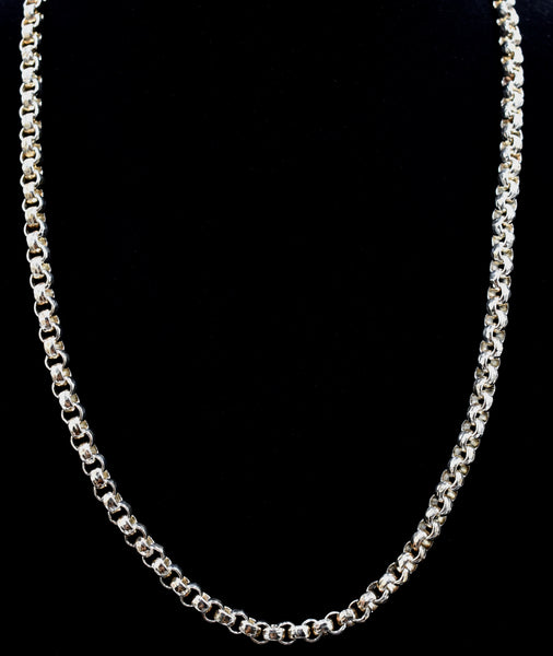 Rolo Link Chain (Hammered)