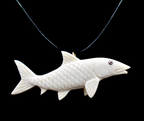 Bonefish Pendant (Bone Carving)