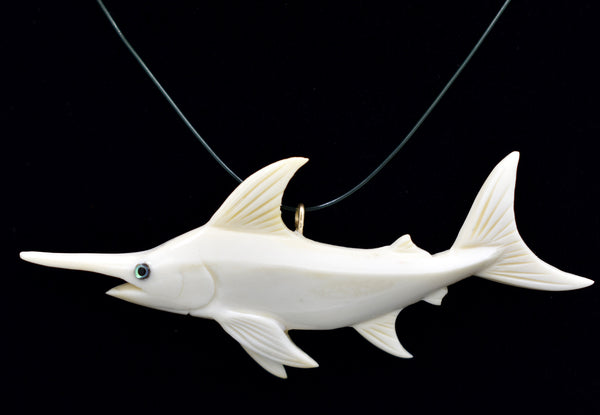 Swordfish Pendant (Bone Carving)