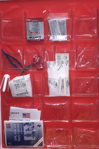First Aid Kit- 200 Person Deluxe First Aid Cabinet - 4 Shelves - Certified (206-152)