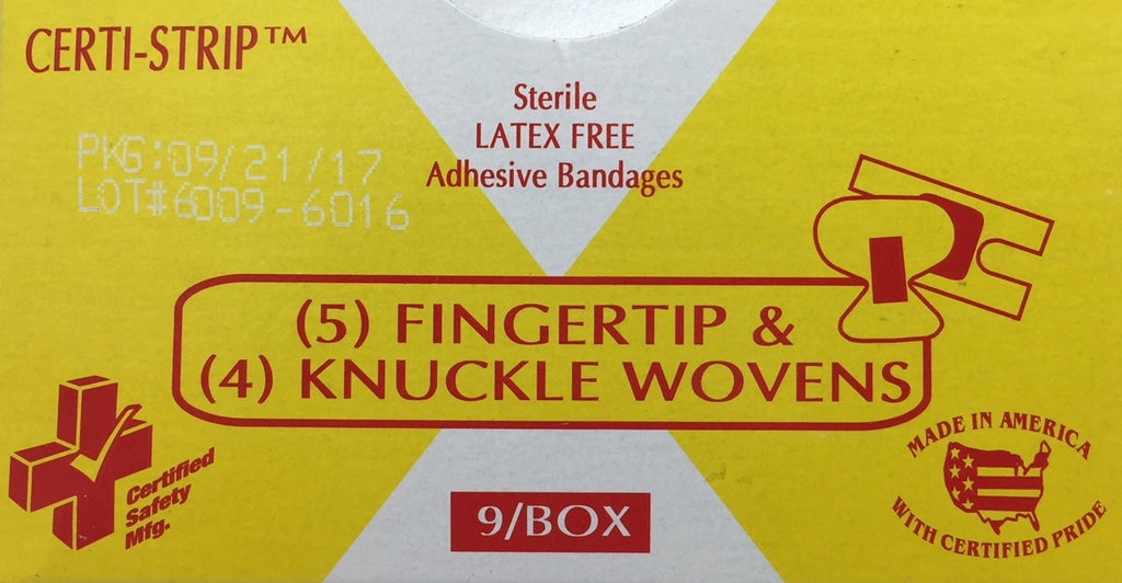 Adhesive Bandages Woven (5) Finger Tip & (4) Knuckle  689  210-019