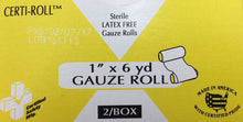 "Gauze Roll- 1"" x 6 yards - Certi-Gauze - Certified (211-022) 2/box"