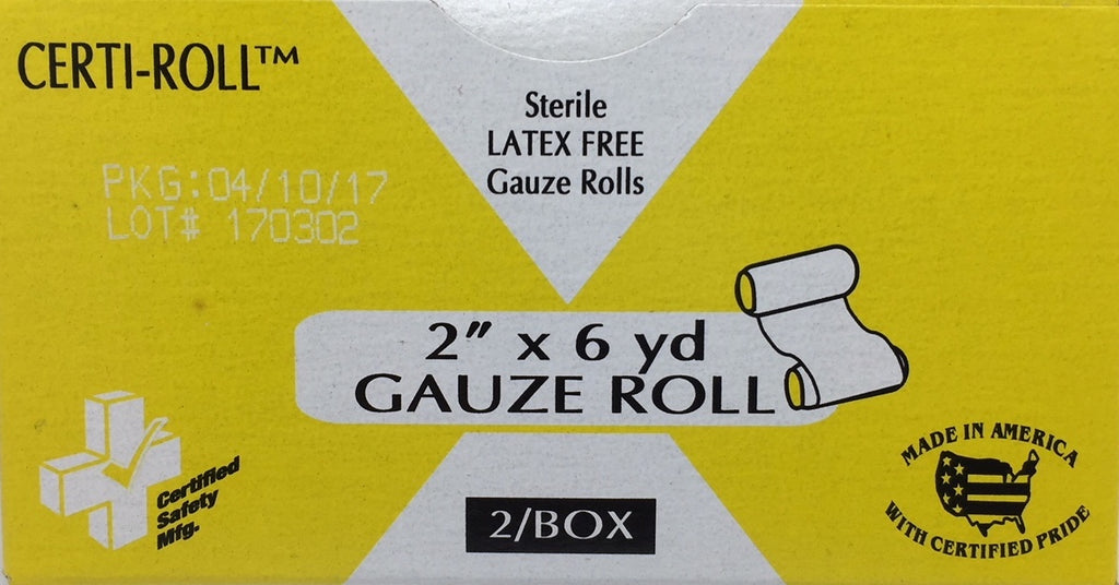 "Gauze Roll - 2"" x 6 yards - Certi-Gauze - Certified  (211-024) 2/box"