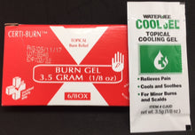 Burn Gel - Certi-Burn Gel  Certified (215-010) 6 per box