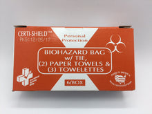 Biohazard Bag & Towelettes (216-080)
