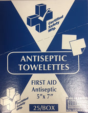 "Antiseptic Towelettes 5"" x 7""  25/Box 221-009"