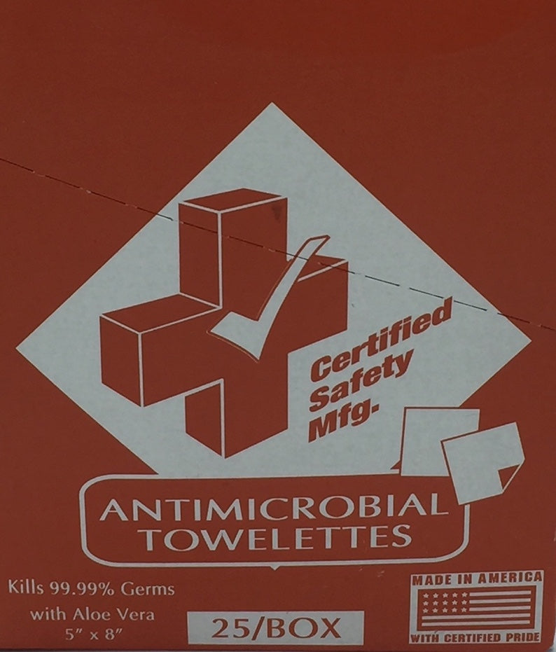 Antimicrobial Towelettes 25/box  221-020
