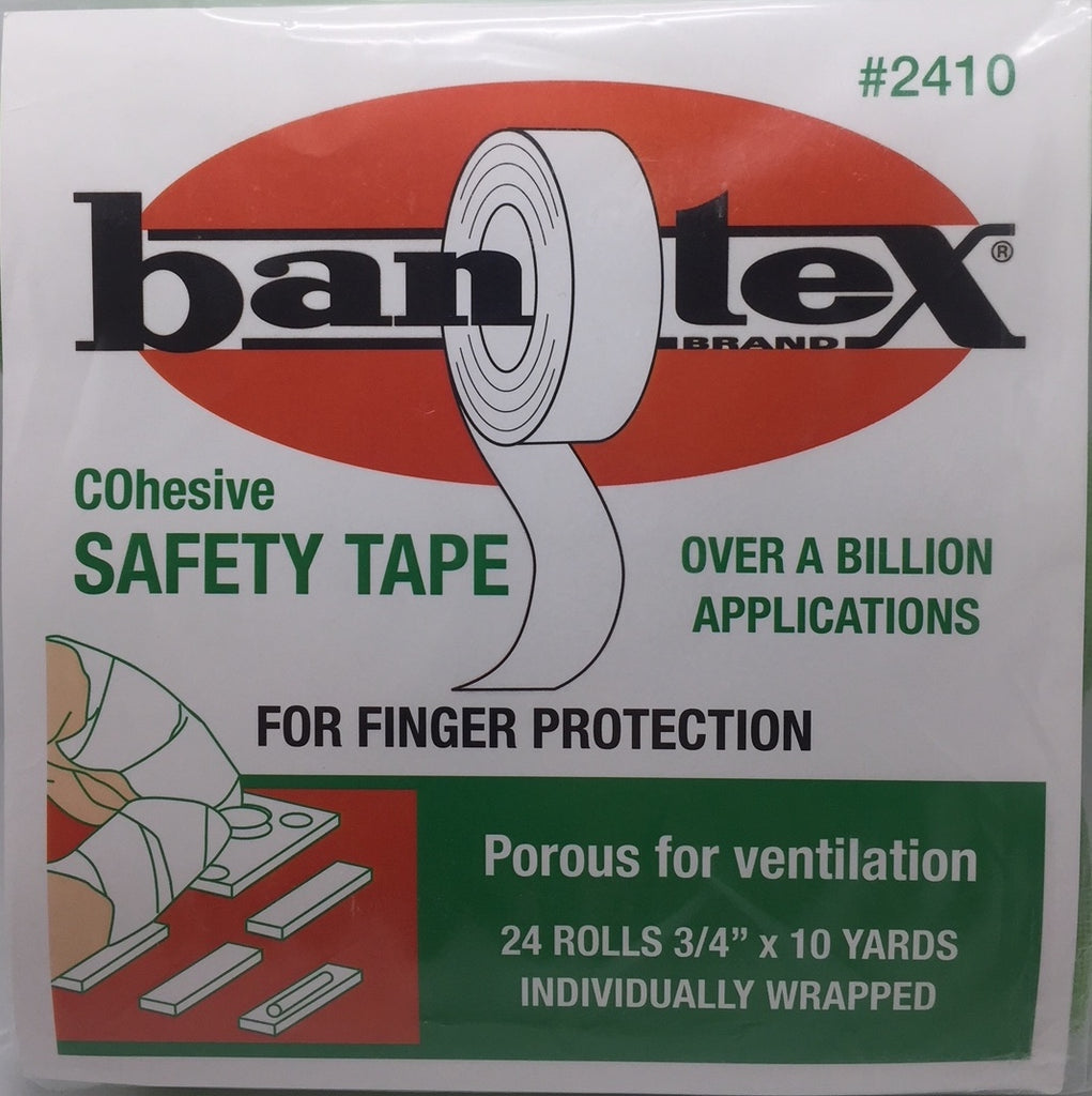 "Cohesive Safety Tape - Bandex for finger protection 24 - 3/4"" x 10 yds Rolls. Color Green"