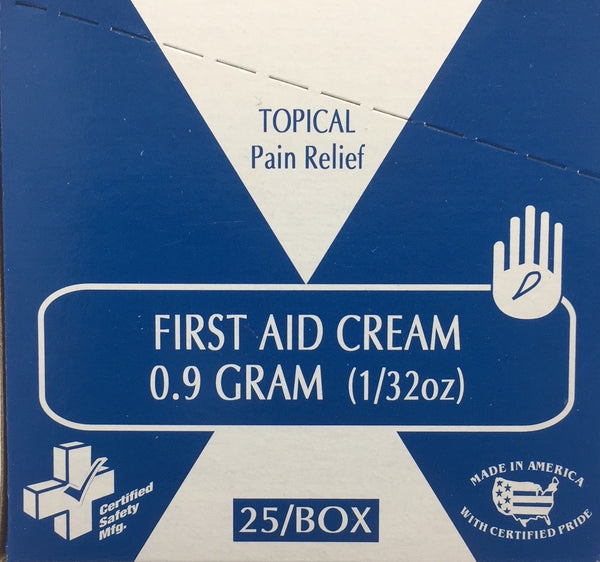 First Aid Cream - 1g - 25/box Certified 233-319