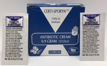 Antibiotic Cream - Certi-Sporyn - 1g - 25/box Certified 233-358