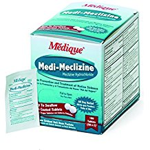 Motion Sickness Tablets (238-020) Medi-Meclizine 2/pkg 50 pkg