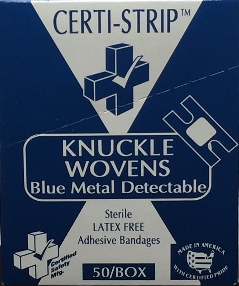 Adhesive Bandage - Knuckle - Certi-Strips - BMD Certified (220-217) 50/box