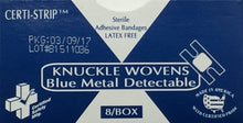 Adhesive Bandages - Knuckle -  Woven Heavy Weight BMD - Certi-Strips -  Certified (210-120) 8/box