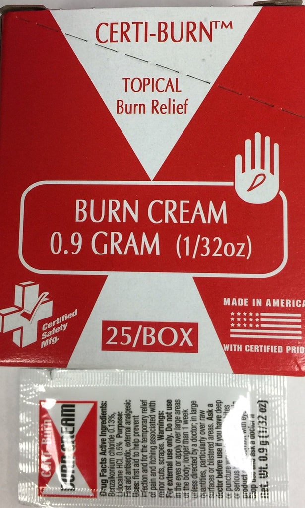 Certi-Burn Cream - 1g - 25/Box R233-375