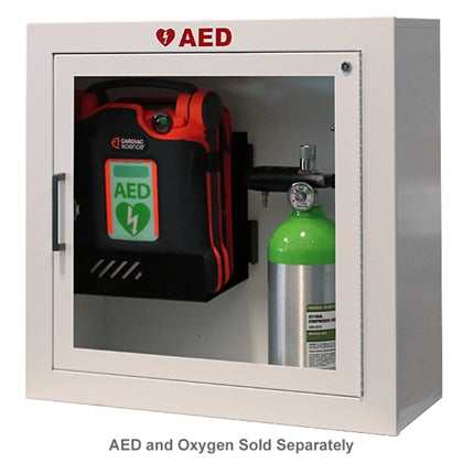 AED and Oxygen Wall Cabinet with Commander Alarm