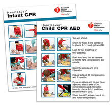 AHA Heartsaver® Child And Infant CPR AED Wallet Card (15-1025)