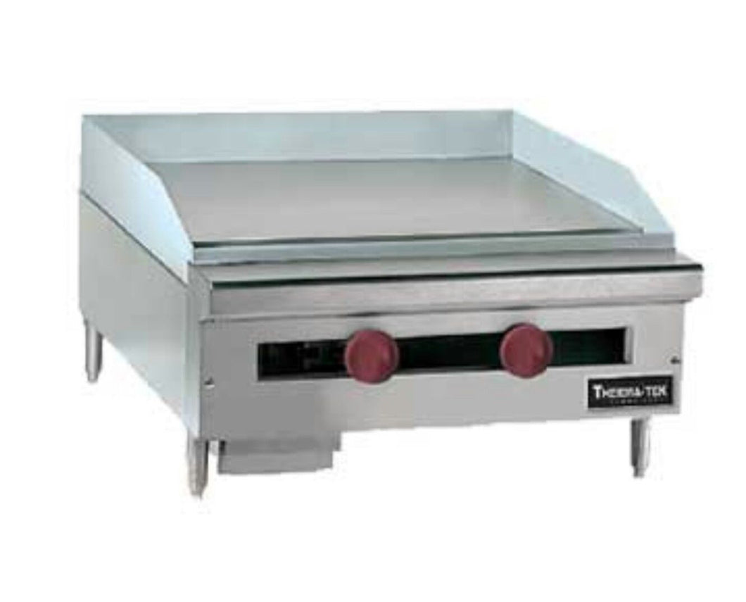 "Restaurant Kitchen Manual therma-tek 72"" counter flat manual gas griddle tc-72-72g/american"