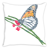 Butterfly Breakfast Throw Pillow