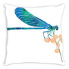 Dragonfly Lunch Throw Pillow