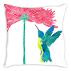 Hummingbird Heartbeat Throw Pillow