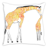 Giraffe Kiss Throw Pillow