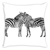 Zebras Embrace Throw Pillow
