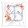 Square Winter Wreath Throw Pillow