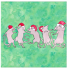 Celebrate With Dancing Rats Greeting  Cards