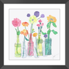 Flowers & Bottles Framed Print