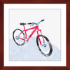Snowy Bike Framed Print