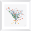 Garden Rake Wreath Framed Prints