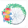 Bicycle Wreath Greeting Cards