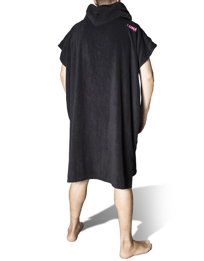 Lunasurf Change Robe Black Pink Logos Adult