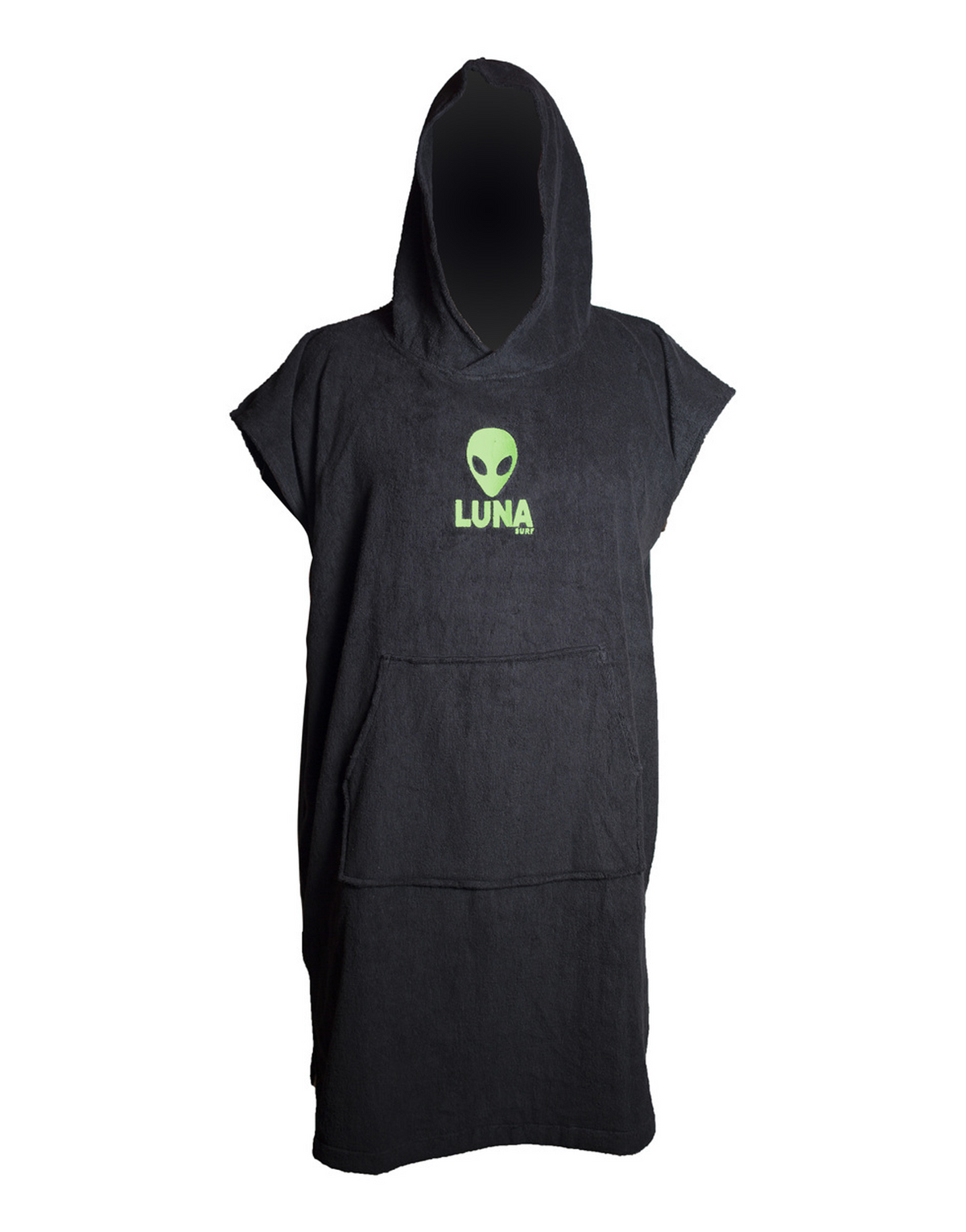 Lunasurf Change Robe Black Green Logos Youth