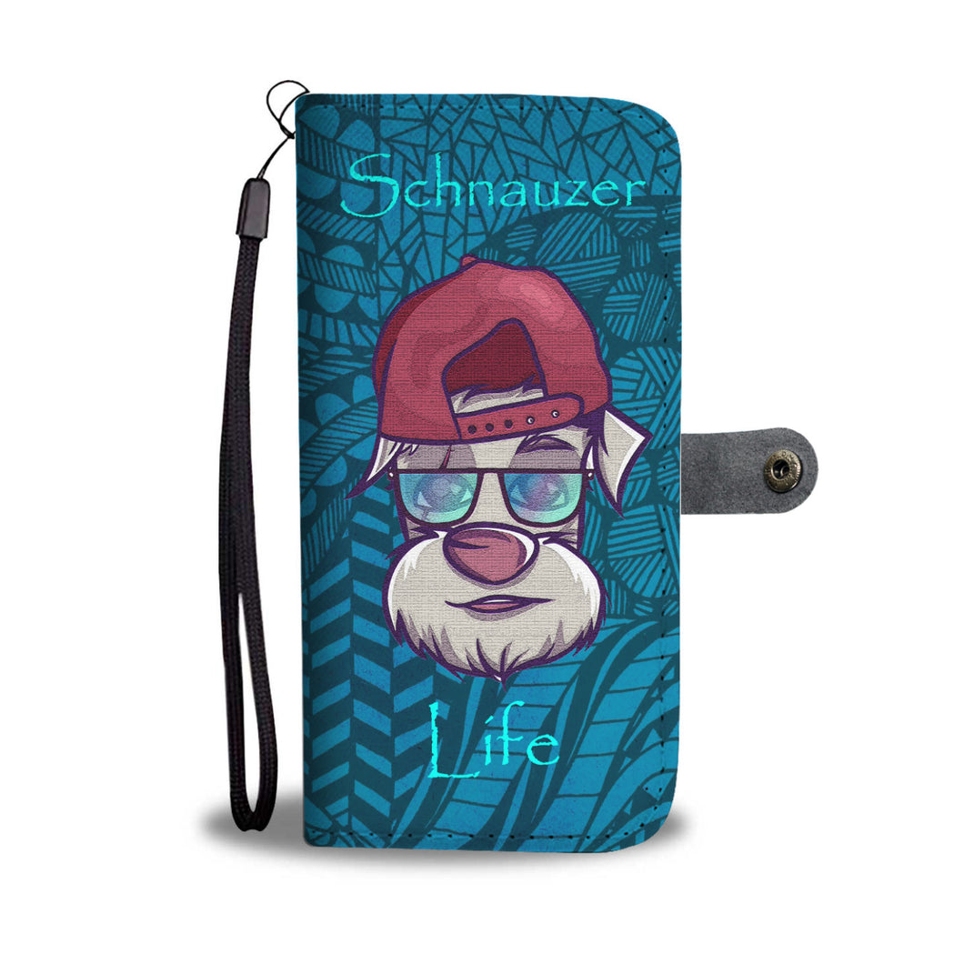Awesome Schnauzer Life Wallet Phone Case - Great Latin Clothing