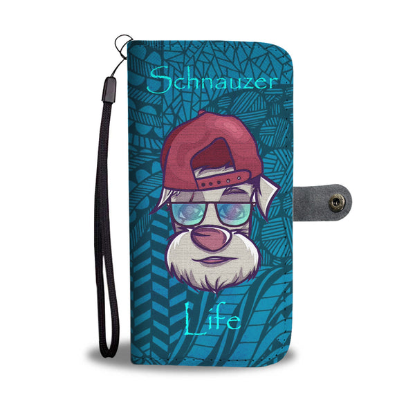 Awesome Schnauzer Life Wallet Phone Case | Mens Fashion | Guys Clothing Only