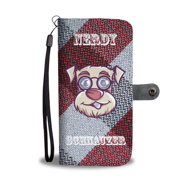 Amazing Nerdy Schnauzer Wallet Case | Mens Fashion | Guys Clothing Only