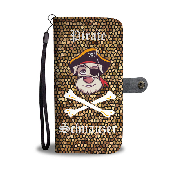 Fun Pirate Schnauzer Wallet Phone Case | Mens Fashion | Guys Clothing Only