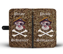 Fun Pirate Schnauzer Wallet Phone Case - Great Latin Clothing