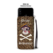 Fun Pirate Schnauzer Wallet Phone Case | Wallet Case | Great Latin Clothing