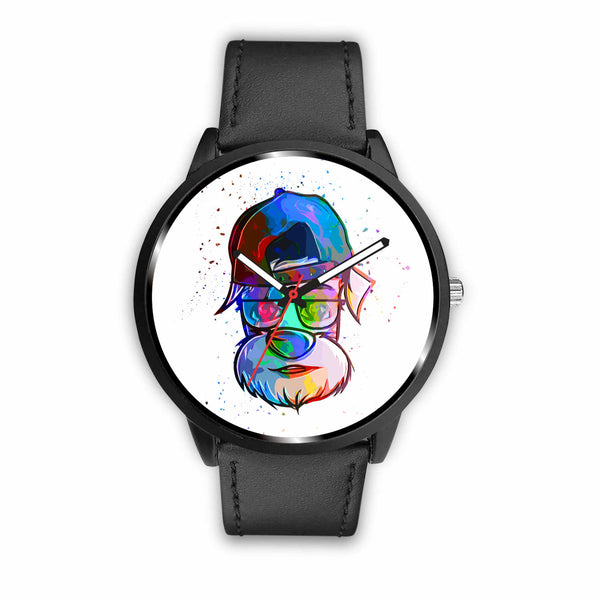 Cool Abstract Schnauzer Watch | Unique Designed Watch | Mens Fashion | Guys Clothing Only