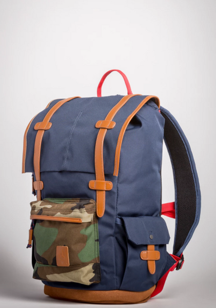 Nixon Boulder - Navy w/ Woodland Camo | Mens Fashion | Guys Clothing Only