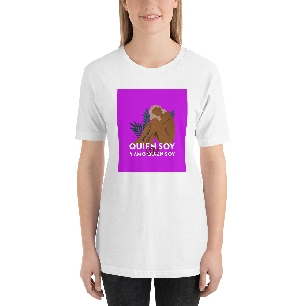Soy Quien Soy w/ Background Unisex T-Shirt | Tshirt | Great Latin Clothing