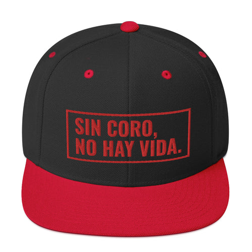 Sin Coro No Hay Vida (Red) Snapback Hat | Hats | Great Latin Clothing