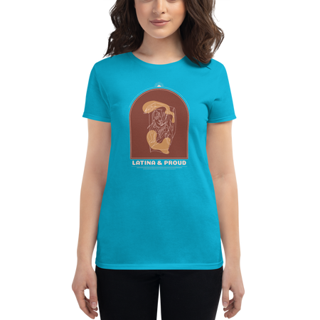 LATINA & PROUD Women's short sleeve t-shirt | Tshirt | Great Latin Clothing